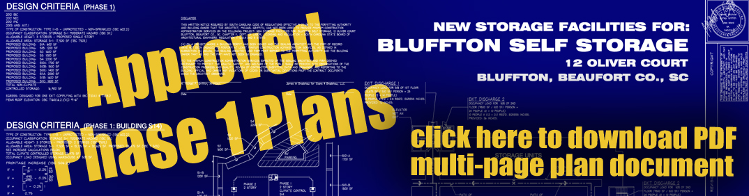 Bluffton Self Storage Approved Plans Are Here: